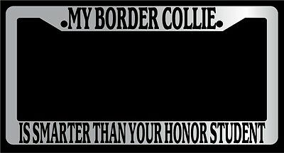 Black License Plate Frame My Dachshund Is Smarter Than Your Honor Student 364