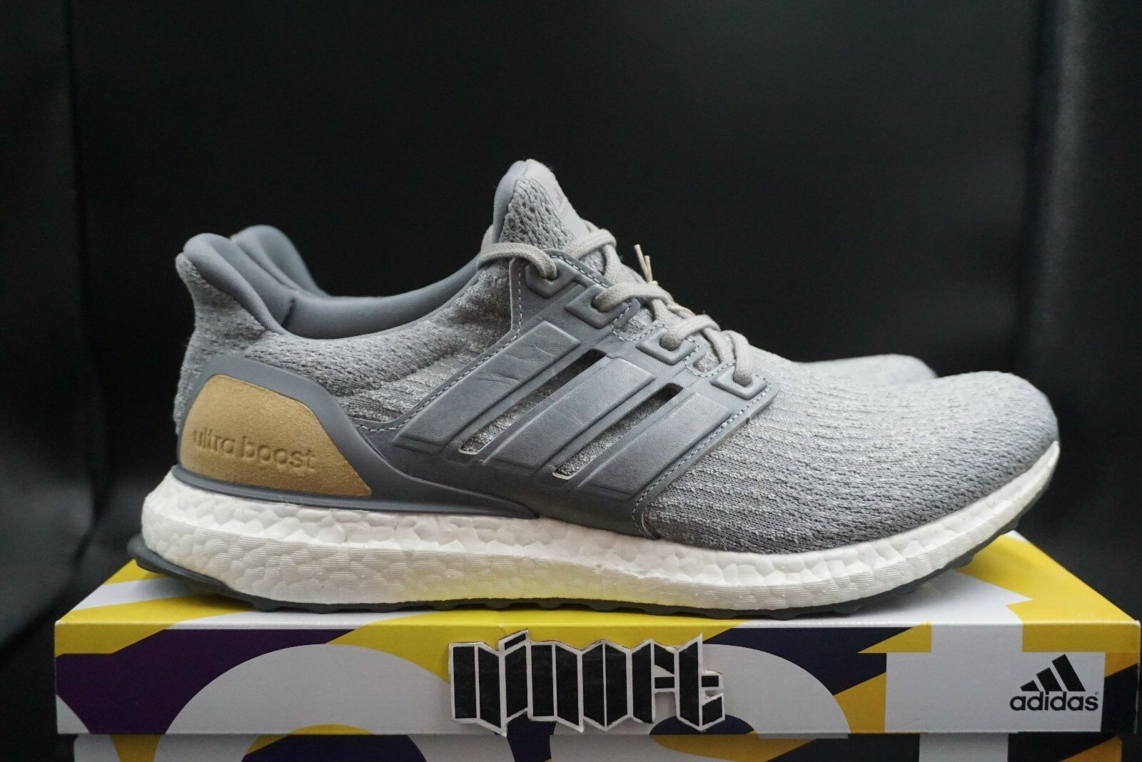 Adidas Ultra Boost 3.0 Limited Leather Cage grigio Suede Linen Khaki BB1092