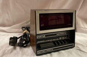 Vintage Spartus Digital Alarm Clock Model 1119 Jumbo Numbers
