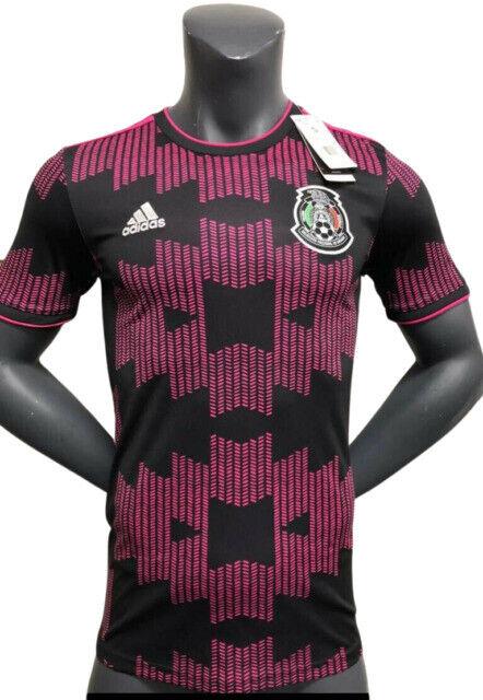 adidas Mexico Home Jersey Men's Soccer - Black/Real Magenta, XL ...
