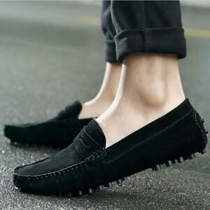 dd316fd1f25414 Image is loading Fashion-Soft-Loafers-Genuine-Leather-Slip-On-Summer-