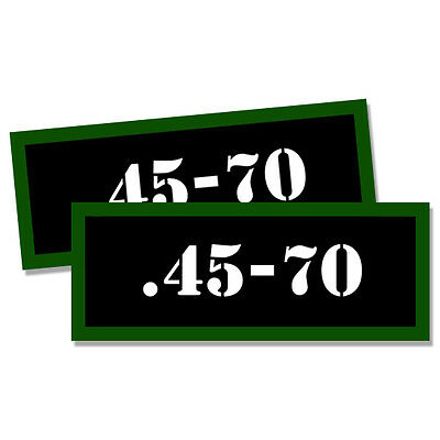 """45-70 Ammo Can 4x Labels Ammunition Case 3/""""x1.15/"""" stickers decals 4 pack"""
