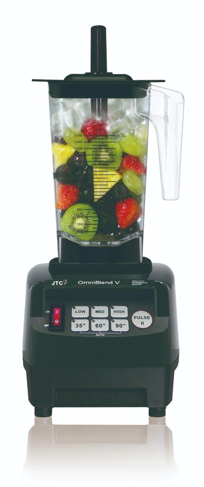 JTC OmniBlend 1.5 L Professional Blender centrifugeuse en couleur noire NEUF