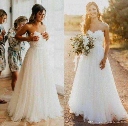 6-8-10-12-14-16 New Lace Tulle White//ivory Wedding dress Bridal Stock size