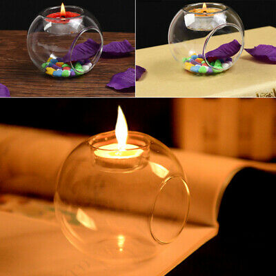 Glass Candle Holder Tealight Clear Baubles Dining Room Wedding Party Decoration