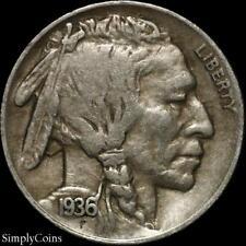 1936-D 5C Buffalo Nickel