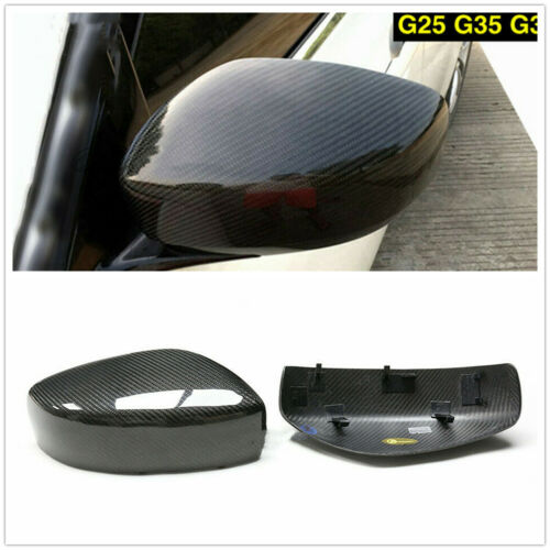 Dry Carbon Fiber Mirror Cover for 2009-14 Infiniti G35 G37 G25 Q60 XN