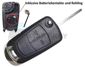 Opel-Auto-Schluessel-Ersatz-Fernbedienung-Gehaeuse-Astra-H-Corsa-D-Vectra-C-Meriva