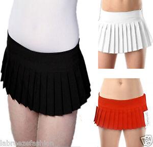 "e421e08e64 Ladies Girls Sexy Plain Mini Pleated Skirt 7"" Micro Mini Skirt Black ..."