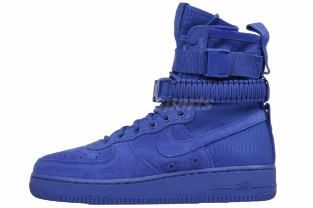 Nike SF Af1 Air Force 1 864024 401 Blue Suede Game Royal DS Size 9