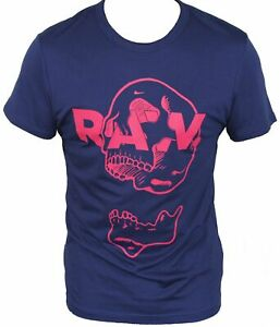 New-G-Star-Raw-Mens-T-Shirt-Round-Neck-in-Imperial-Blue-Colour-Size-XL