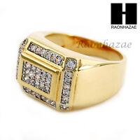 Men Bling Bling Iced Out Hip Hop Lab Diamond Ring Size 8-12 Sr021cl