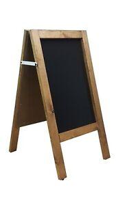 A BOARD PAVEMENT DISPLAY FRAME  BLACKBOARD -  CHALKBOARD 80cm x 40cm  5KGS (DO)