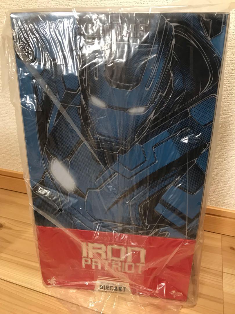Movie Masterpiece DIECAST Iron Man 3 IRON PATRIOT 1/6 Action Figure Hot Toys F/S