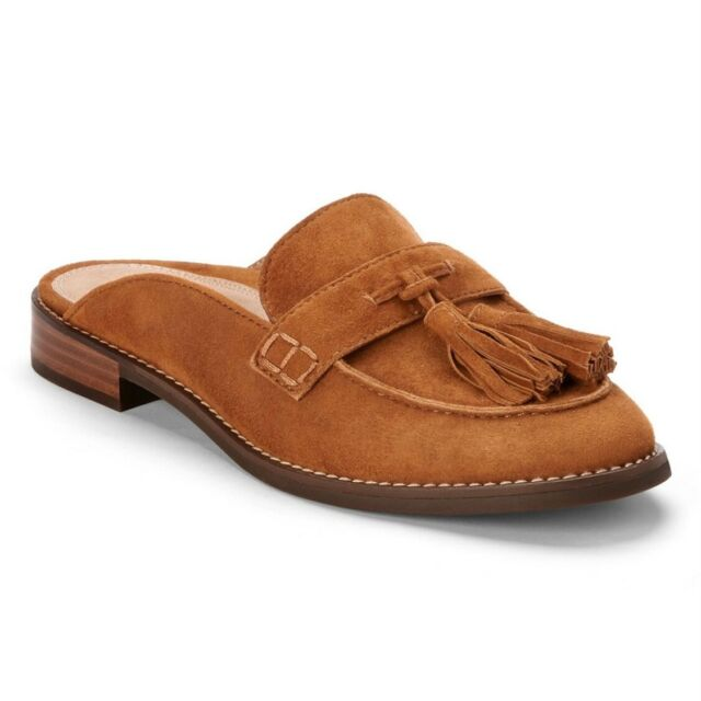Vionic Womens Wise Reagan Mules Caramel Suede Slip On Size 9.5 M New