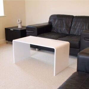 Details about Premium White Acrylic Perspex Coffee Table 85cm Long - Made  In The UK