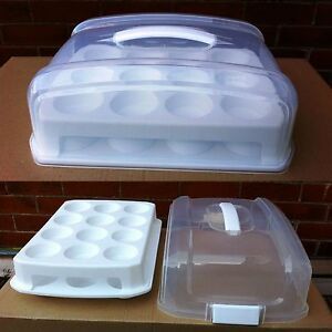 Cupcake Carrier Caddy Storage Transport Aid Cakes Muffins Buns