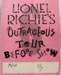 Lionel-Richie-OUTRAGEOUS-TOUR-Backstage-Pass-1986-Never-Used