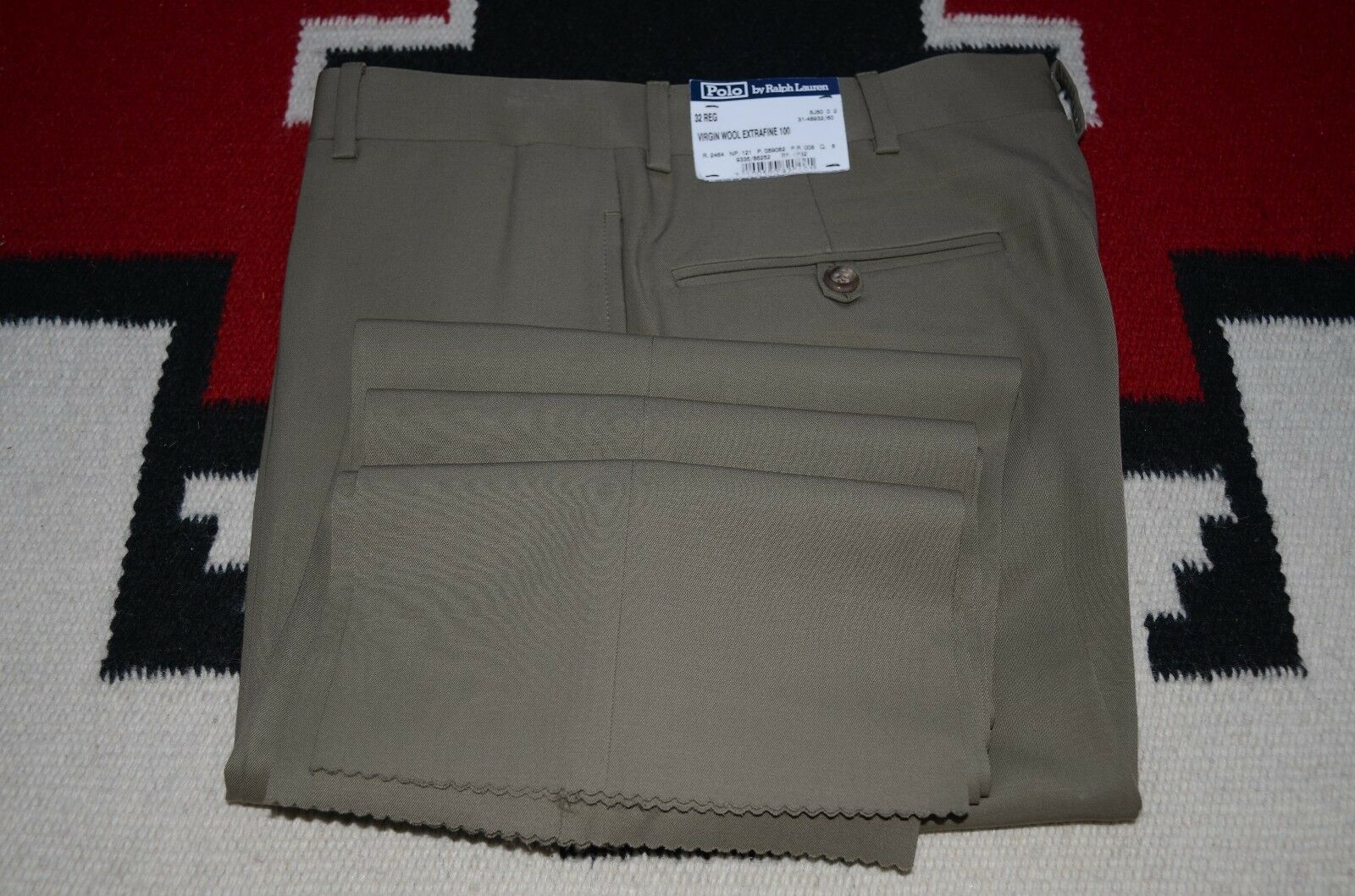 Polo Ralph Lauren Made in  100% Extra Fine Virgin Wool Dress Pants