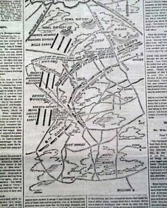 SIEGE-OF-PETERSBURG-Battle-of-Jerusalem-Plank-Road-MAP-Civil-War-1864-Newspaper