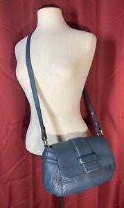 L-K-Bennett-London-Sea-Blue-Pebbled-Leather-Crossbody-Shoulder-Bag-Purse-445