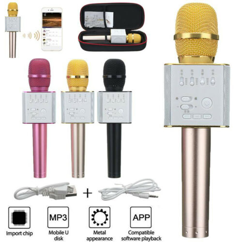 Micgeek Q9 Wireless Karaoke Microphone KTV Player Bluetooth For iPhone Rose Red