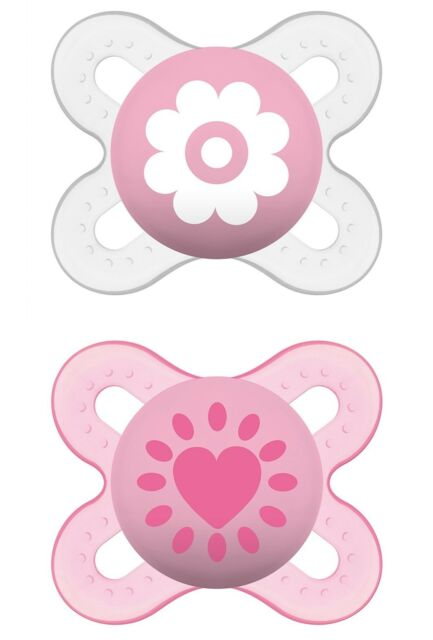 MAM Start Silicone Dummies Pack of 2 for Ages 0-2 Months assorted design