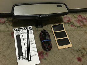 NEW-2000-2019-Ford-Auto-Dim-Rear-View-Mirror-with-Compass-Gentex-OEM