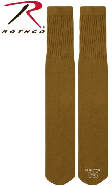 tube socks military boot sock coyote brown made in the usa rothco 6126