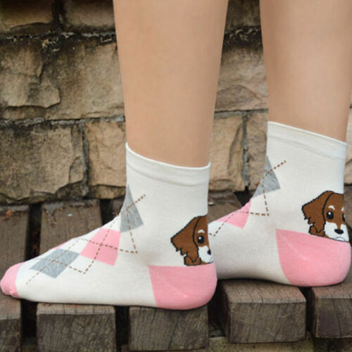 Details about  /Hot Sale Animal Pattern Cute Puppy Print Women Girls Cotton Short Ankle Socks v