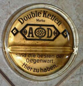 """Reklame & Werbung Sonnig Alter Zahlteller """"double Ketten Marke Ad"""" Aus Juweliergeschäft Juwelier- & Uhrmacherbedarf"""
