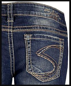 Womens-Silver-Jeans-Shorts-Low-Rise-Frances-Denim-Rolled-Cutoffs-26-28-31-18