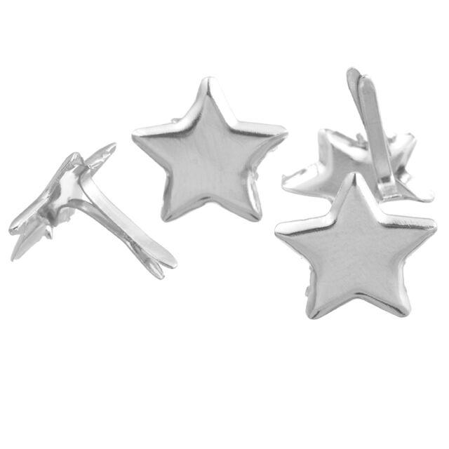 HS 50 Reißbrettstifte Reißnägel Heftzwecken Silber Sterne DIY 14mm