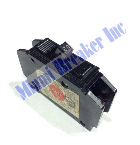 NQ11020 Federal Pacific FPE Type NQ Circuit Breaker 1 Pole 20 Amp 120V NQ111020