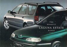 Renault Laguna Estate 1996-98 UK Market Sales Brochure RN RT RXE Family