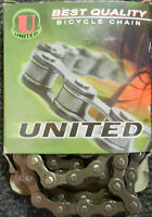 United 3/32 Bicycle Chain Suitable For Single Speed Or Friction Shift Apps