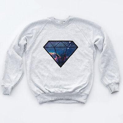 DIAMOND GALAXY NEW Bling Dope YMCMB Sweatshirt Fresh Space Hype Lux Unisex Sweat