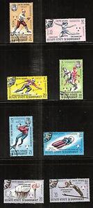 SOUTH-ARABIA-123A-130A-Used-WINTER-OLYMPICS-FRANCE-1968