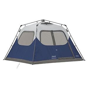 Image is loading Coleman-6-Person-10-039-x-9-039-  sc 1 st  eBay & Coleman 6-Person 10u0027 x 9u0027 Instant Cabin Family Camping Tent w ...