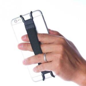 Soporte para teléfono móvil una correa de mano Agarre Gancho Elástico Ajustable Banda Univer M4E8