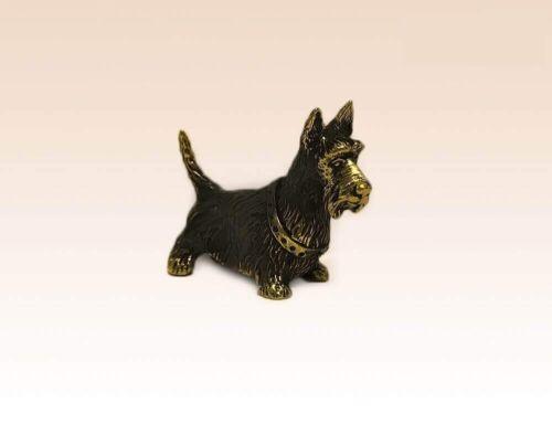Manual Processing Bronze Figurine Dog Scotch Terrier