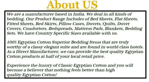 Duvet Collection Egyptian Cotton US Sizes Moss Striped Select TC /& Item