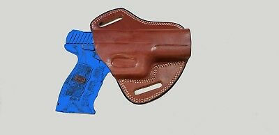 G6 Armadillo Holsters Tan Leather Butterfly Belt Holster for Sig Sauer OWB
