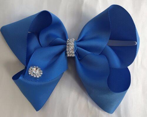 "party weddings dance jojolou style boutique hair bows 6/"" with diamante gems"