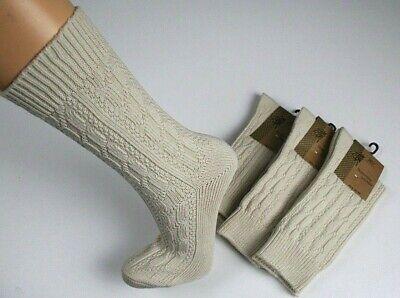 Trachten Socken Trachtenstrümpfe Struktur Baumwolle mit Elasthan Natur Gr 35-48