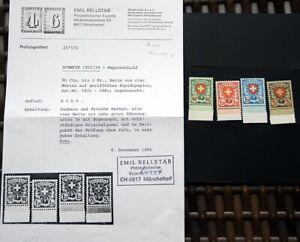 SCHWEIZ-Michel-Nr-194x-197x-tadellos-postfrisch-Foto-Attest-Rellstab-400-EURO