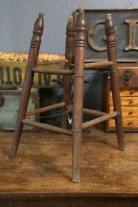 Vintage-Industrial-Wood-Drafting-Architect-Chair-Stool-Legs-for-PARTS-REPAIR