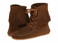 Women's Minnetonka Tramper Ankle Hi Boot Dusty Brown 428