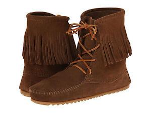 Women S Minnetonka Tramper Ankle Hi Boot Dusty Brown 428 Ebay