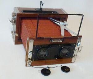 Rare-Contessa-Nettel-stereo-Stereax-w-Tessar-lens-90mm-f-4-5-Tropical-Version